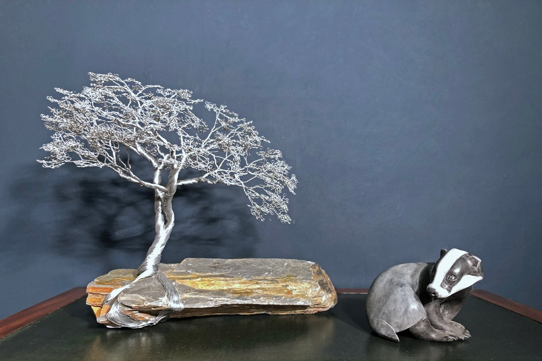 Wire Tree on Slate
