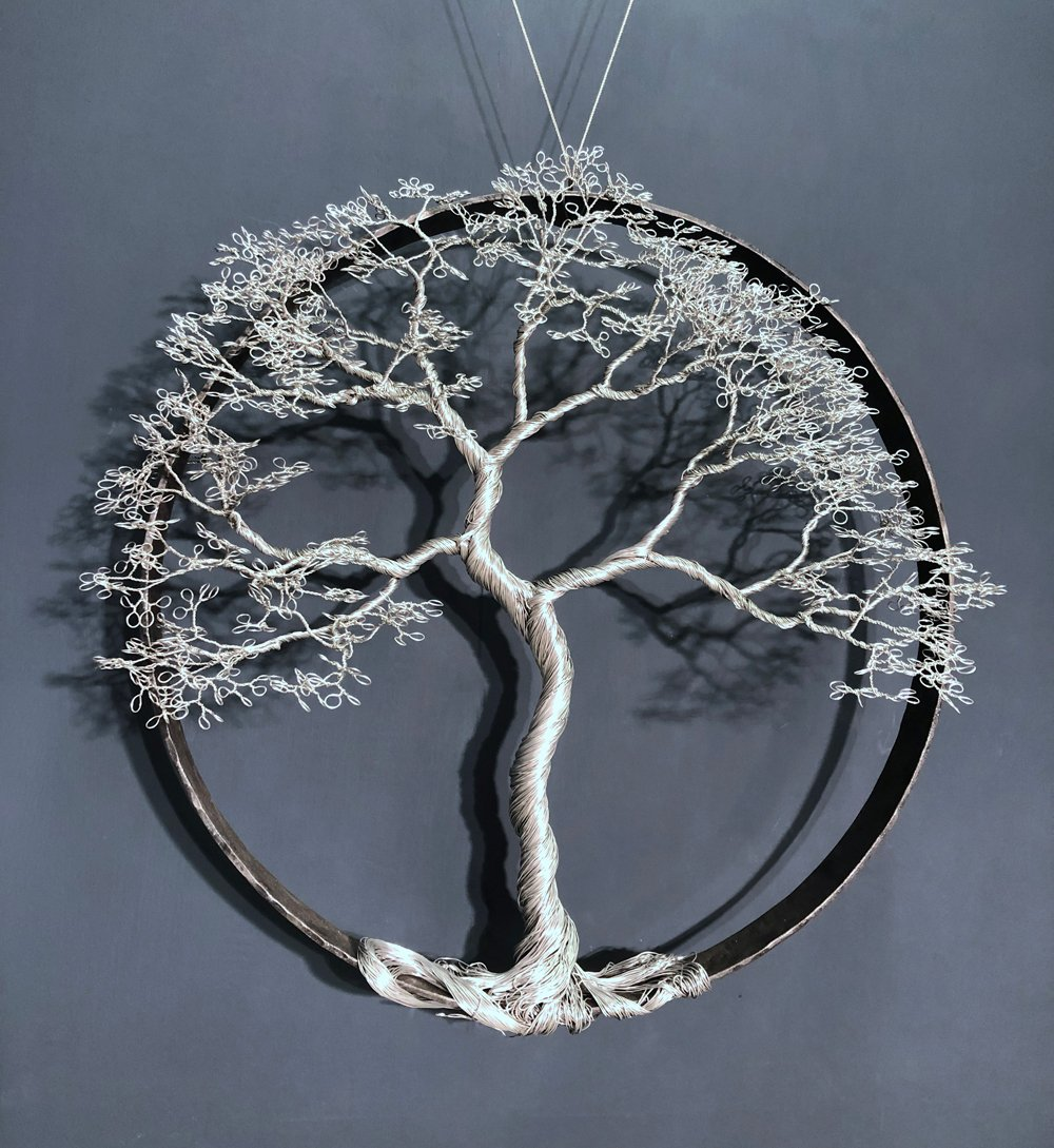 Wire Tree in Hoop