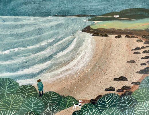 Barbara Peirson original painting Coastal Path