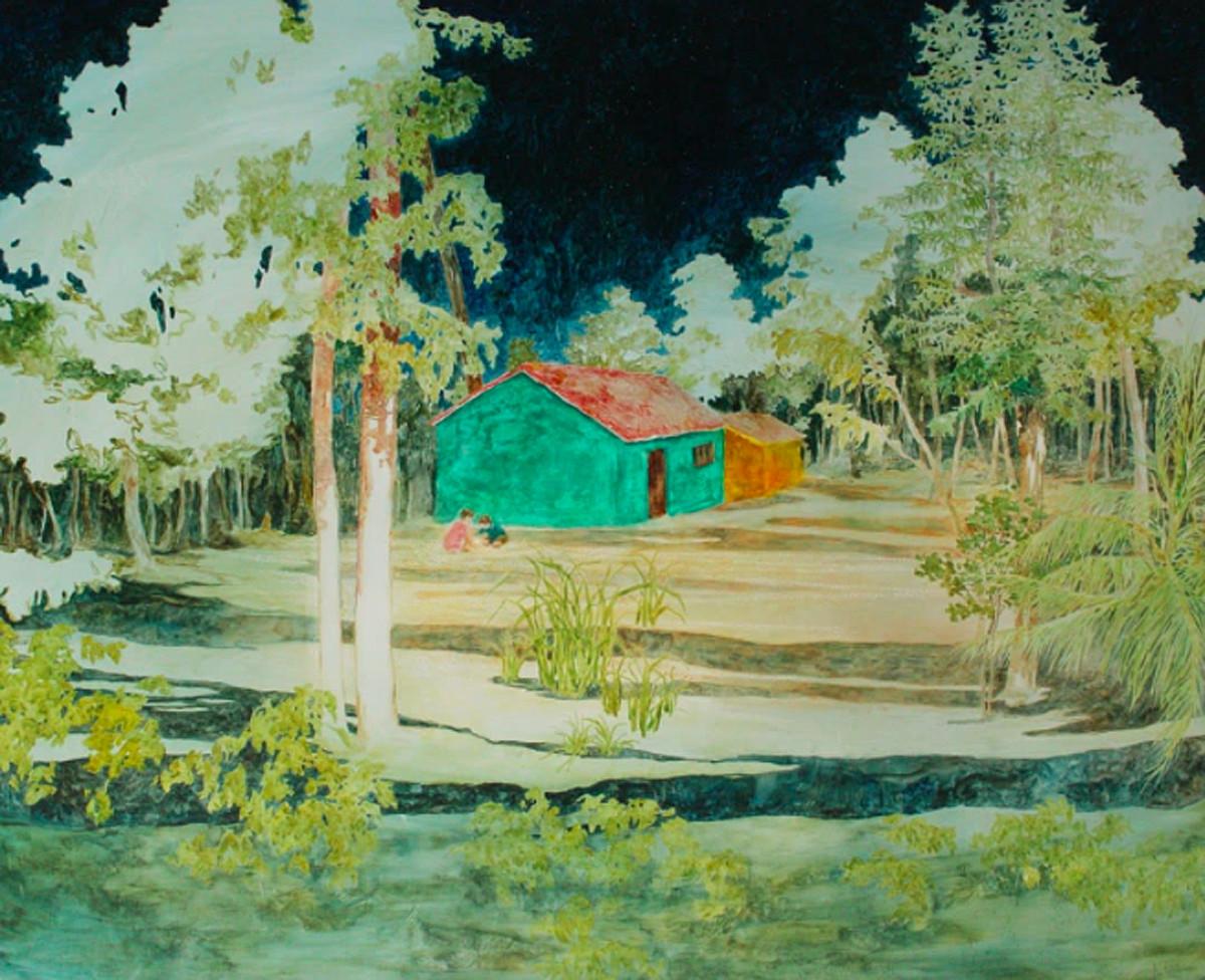 Daniel Ablitt original painting Affordable Art Fair